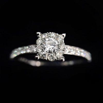 Anillo Diamantes Compromiso