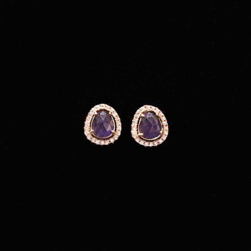 Pendientes Gemstones Mini Amatistas