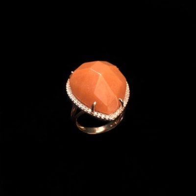 Anillo Gemstones Jade Naranja