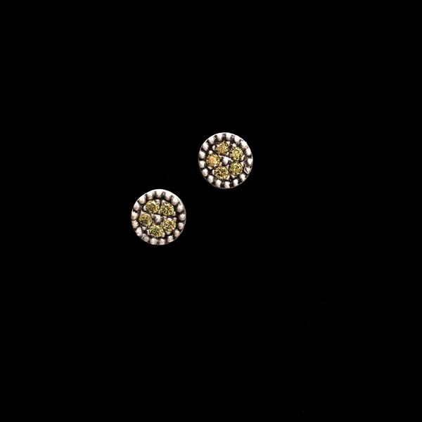 Pendientes Enigma Plata Circonitas Verdes