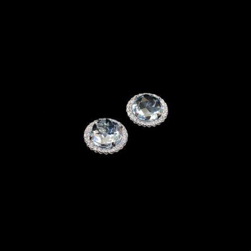 Pendientes Forever Topacio Azul Diamantes