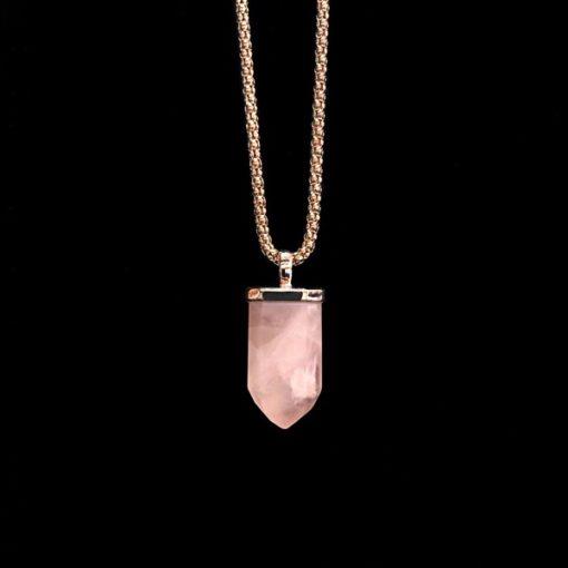 Colgante Gemstones Cuarzo Rosa