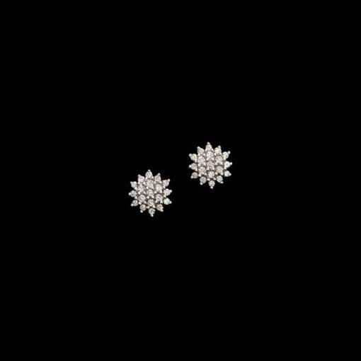 Pendientes Forever Estrella Oro Blanco Diamantes