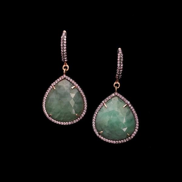 Pendientes Gemstones Esmeraldas