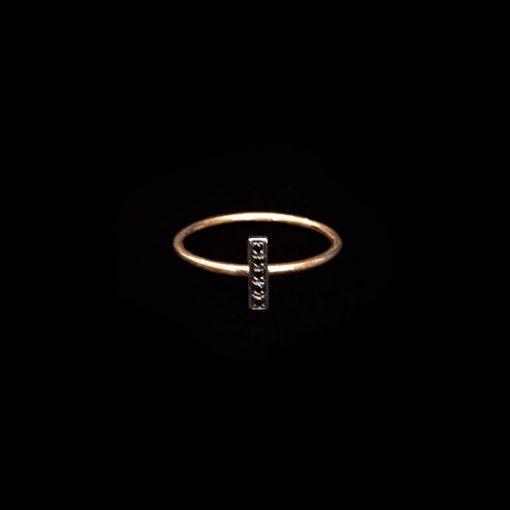 Anillo Endless Oro Rosa Diamantes Negros