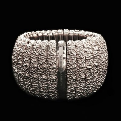 Brazalete Caviar XL Bronce Blanco