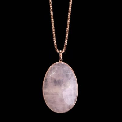 Colgante Gemstones Plata Rosa Cuarzo Rosa