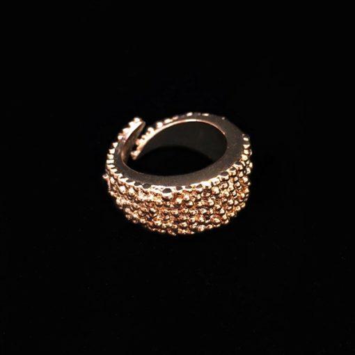 Anillo Caviar M Bronce Rosa