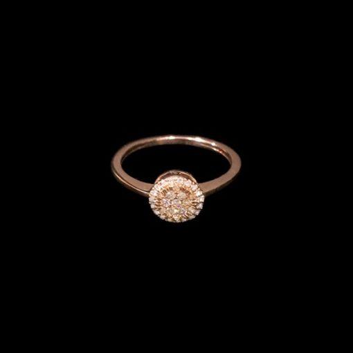 Anillo Endless Oro Rosa Diamantes Brown