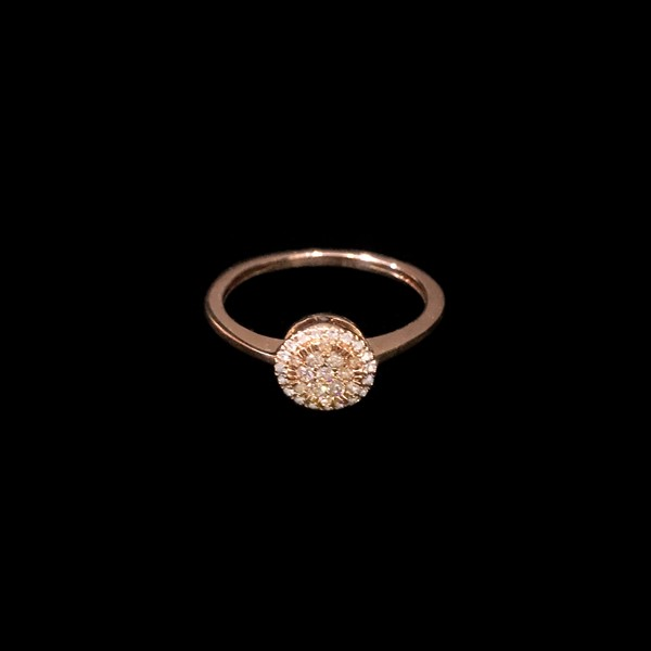 Anillo Endless Oro Rosa Diamantes Brown