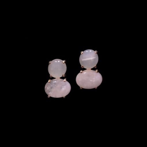 Pendientes Gemstones Cuarzos Rosa