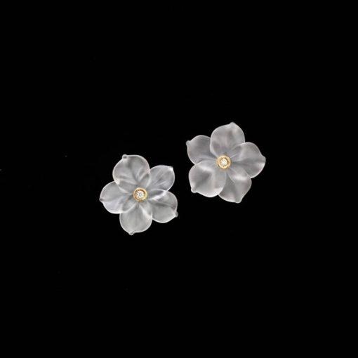 Pendientes Garden Oro Flor Cristal