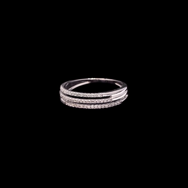 Anillo Forever de oro blanco y diamantes Triple