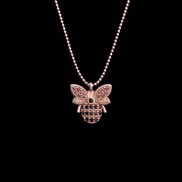 Colgante Havana de plata rosa Abeja Reina
