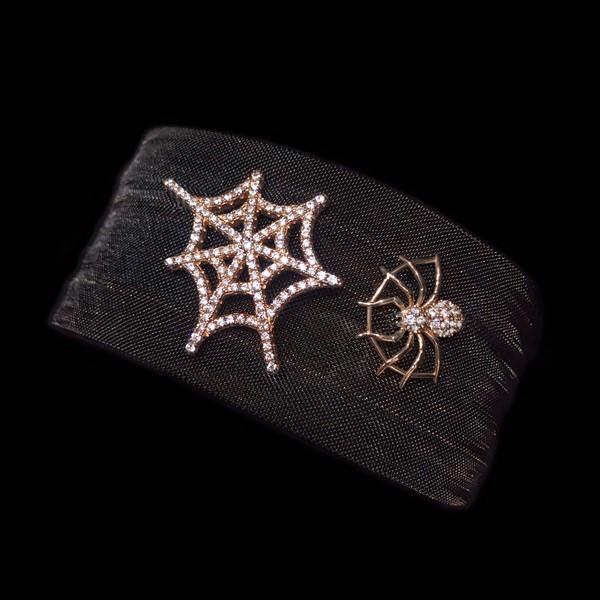 Pulsera Néctar de plata rosa Araña