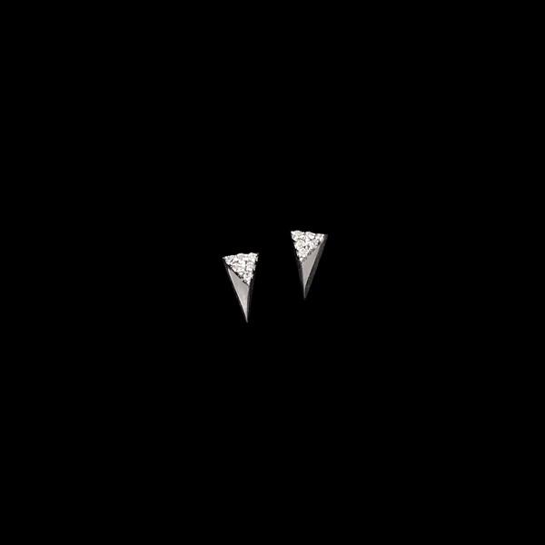 Pendientes Noord Pirámide de oro blanco