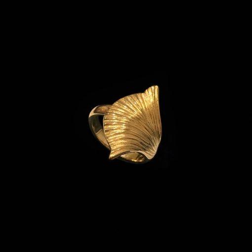 Anillo Marai de plata dorada Sabana