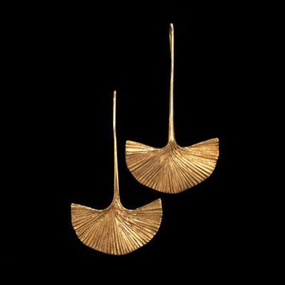 Pendientes Marai de plata dorada Sabana