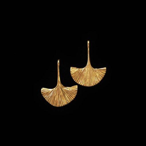 Pendientes Marai de plata dorada Sabana Midi