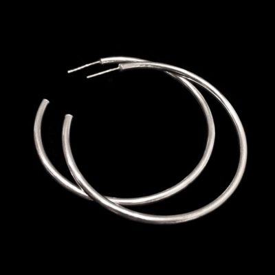 Pendientes Soul de plata aros XL