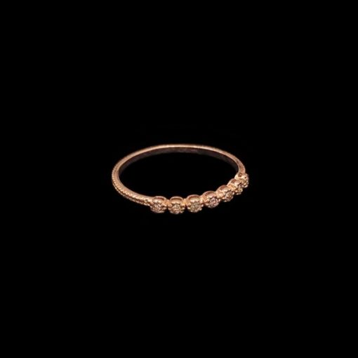 Anillo Endless de oro rosa y diamantes brown Fleur