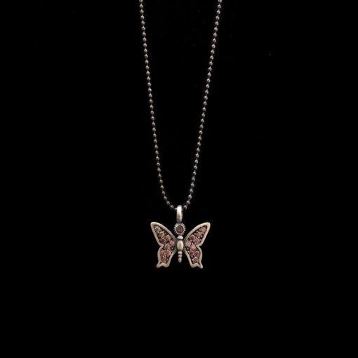 Colgante Enigma de plata Mariposa