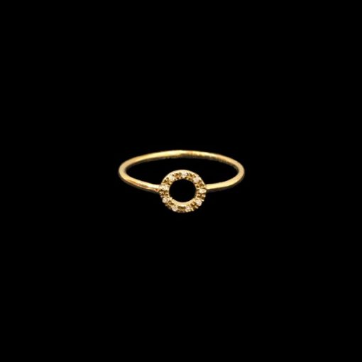 Anillo Eggo de oro y diamantes Rondoo