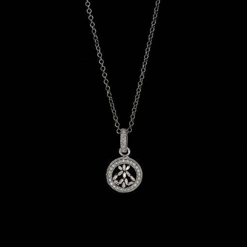 Colgante Bruma de plata negra y diamante gris Nebule