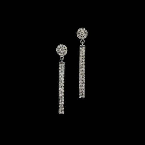 Pendientes Bruma de plata negra y diamante gris Boira