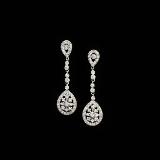 Pendientes Eternity de oro blanco Bouquet