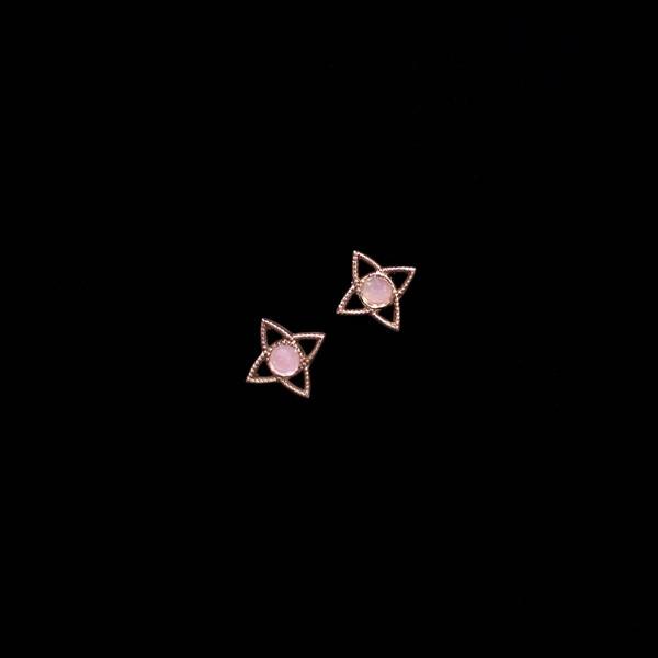 Pendientes Havana de plata rosa y cuarzo rosa Miramar
