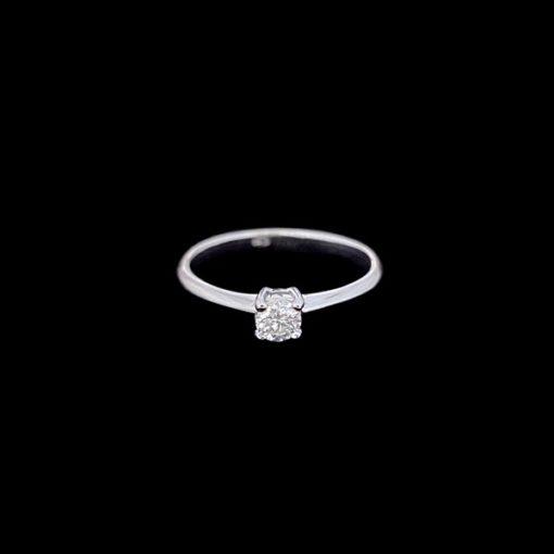 Anillo Forever de oro blanco y diamante Light 0.25