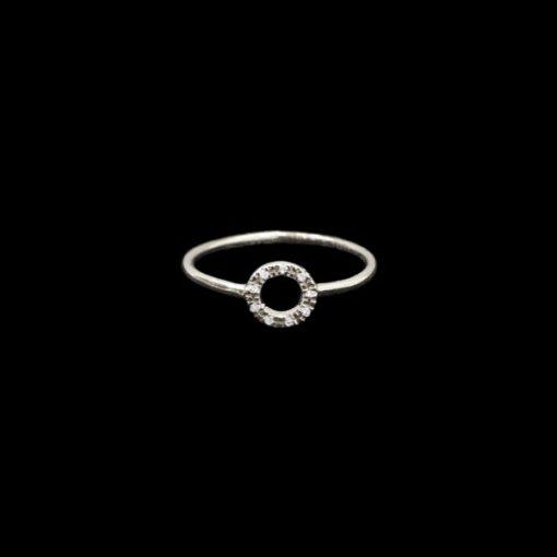 Anillo Forever de oro blanco y diamantes Rondoo