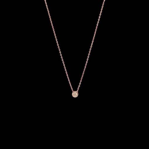 Colgante Endless de oro rosa y diamante brown Soolo