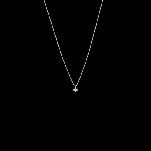 Colgante Forever de oro blanco y diamante Light 0.02