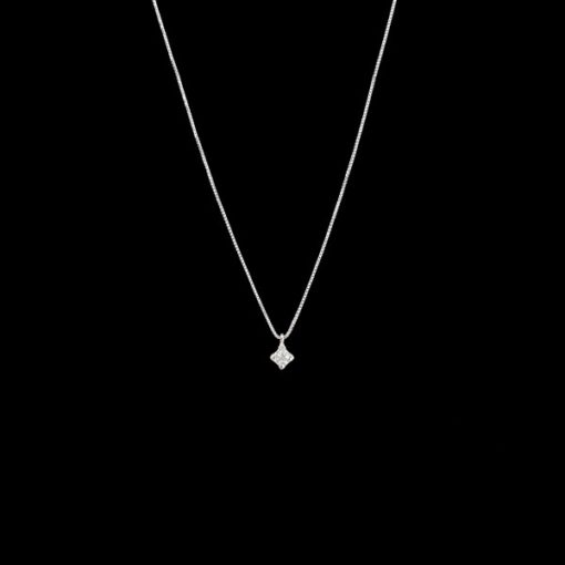 Colgante Forever de oro blanco y diamante Light 0.06