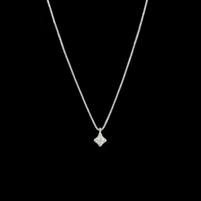 Colgante Forever de oro blanco y diamante Light 0.12