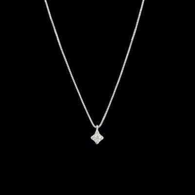 Colgante Forever de oro blanco y diamante Light 0.16