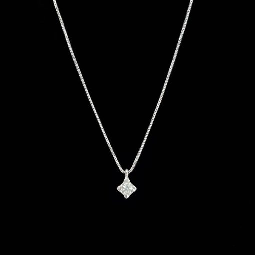 Colgante Forever de oro blanco y diamante Light 0.20