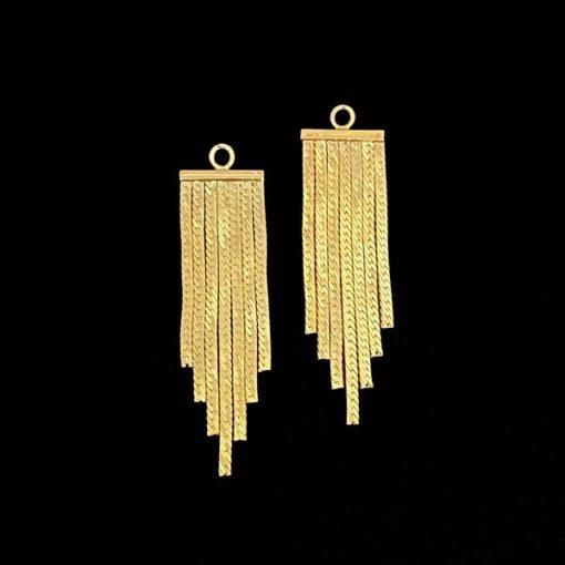 Charms Mistura de plata dorada Cadenas
