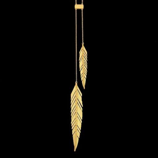 Colgante Marai de plata dorada Marabú
