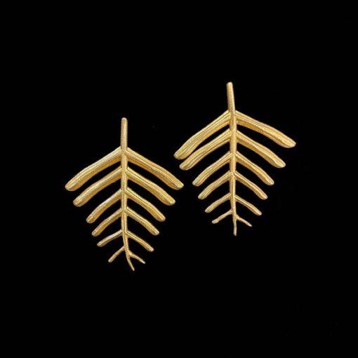 Pendientes Marai de plata dorada Acacia