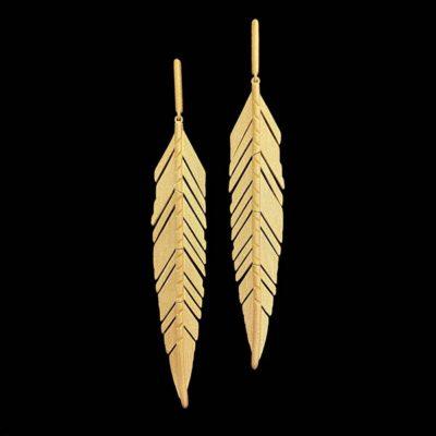 Pendientes Marai de plata dorada Marabú