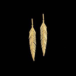 Pendientes Marai de plata dorada Marabú Midi