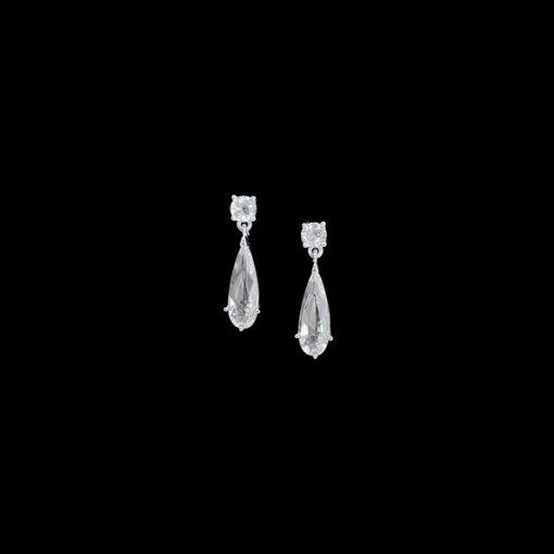Pendientes Morgana de plata y circonitas Aine