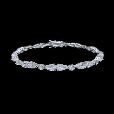 Pulsera Morgana de plata y circonitas Fay