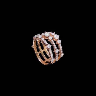 Anillo Aventûre de plata rosa y circonitas Soirée