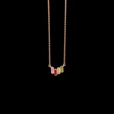 Colgante Aventûre de plata rosa Arcenciel