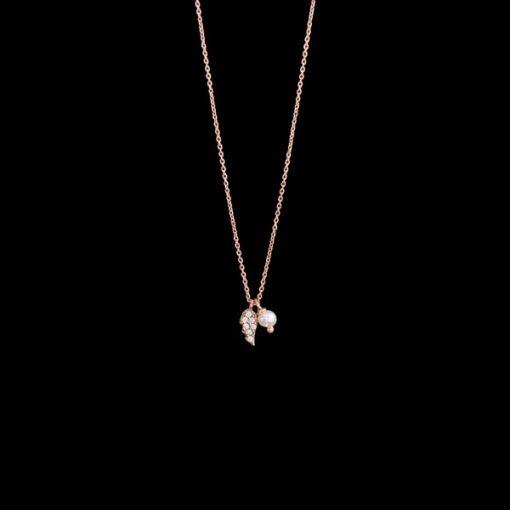 Colgante Aventûre de plata rosa y circonitas Éthéré