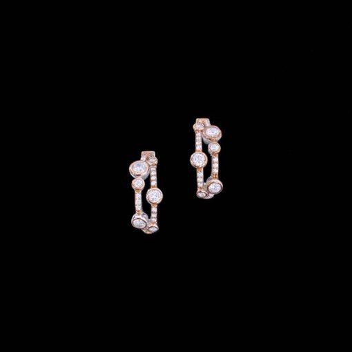 Pendientes Aventûre de plata rosa y blanca Rendezvous